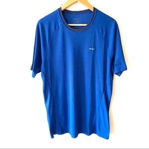 Patagonia blue texture athletic short sleeve shirt